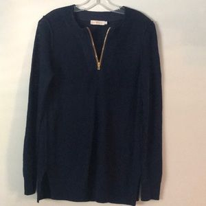 Navy Blue Tory Burch pullover sweater